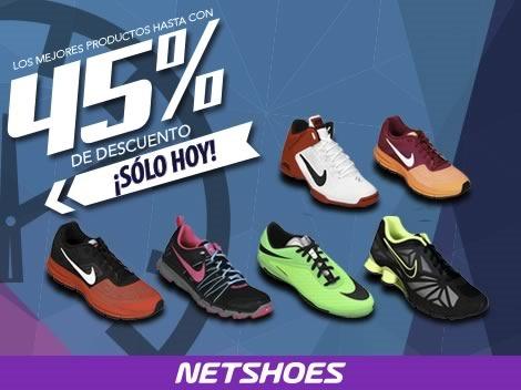 netshoes descuentos 45 por ciento solo hoy 30 abril 2014
