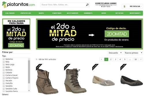 oferta calzado platanito a mitad de precio octubre 2014 peru