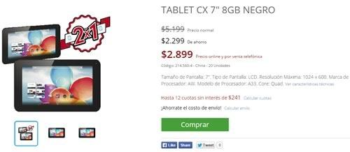oferta garbarino 2x1 tablet cx 7 - 01