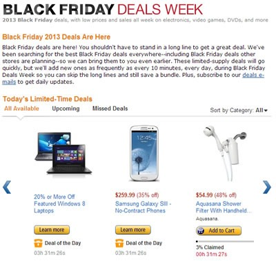 ofertas black friday 2013 en amazon estados unidos