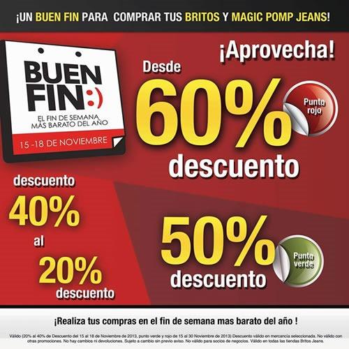 ofertas buen fin 2013 britos jeans 60 por ciento descuento mexico