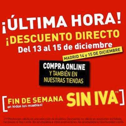 ofertas conforama fin de semana sin iva 14 15 diciembre 2013