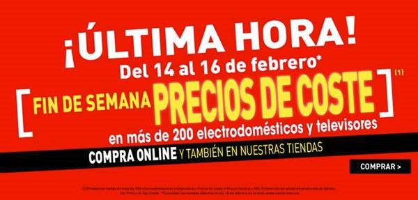 ofertas conforama precios de coste 14 al 16 de febrero 2014