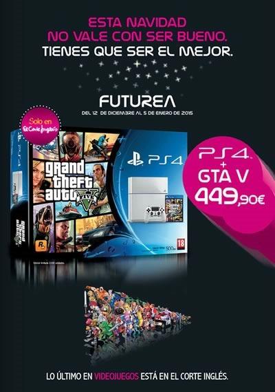ofertas consolas videojuegos el corte ingles navidad 2014