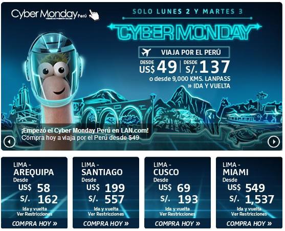 ofertas cyber monday 2013 lan peru