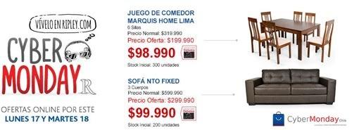 ofertas cyber monday 2014 ripley chile - ofertas