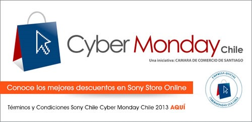 ofertas cyber monday sony chile 2013