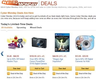 ofertas del cyber monday 2014 en amazon usa