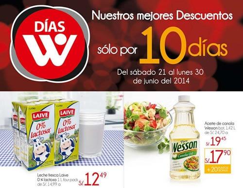 ofertas dias w wong junio 2014