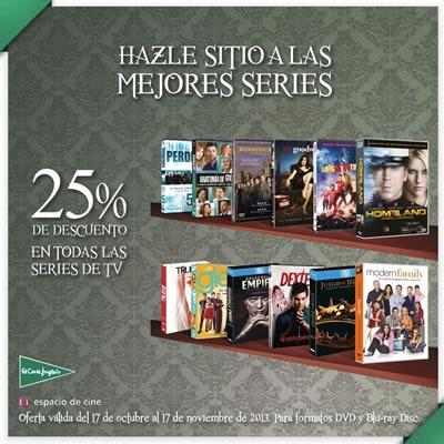ofertas en series de tv el corte ingles octubre noviembre 2013 espana