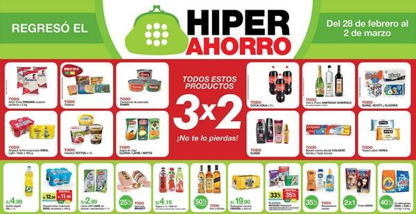 ofertas hiper ahorro metro 3x2 marzo 2014