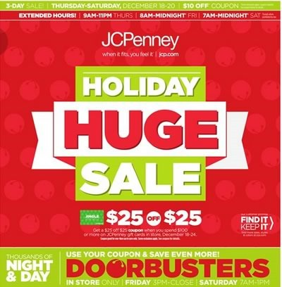 ofertas holiday huge sale 2014 en jcpenney estados unidos