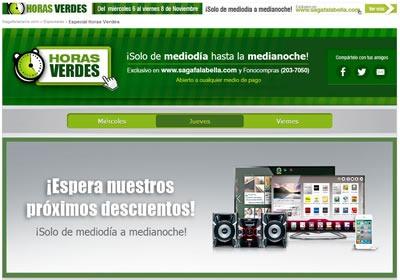ofertas horas verdes saga falabella 6 7 8 nov 2013