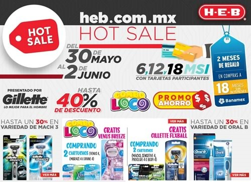 ofertas hot sale 2016 en heb mexico