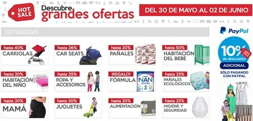 ofertas hot sale 2016 productos bebe