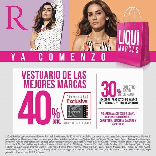 ofertas liquimarcas ripley enero 2014 chile