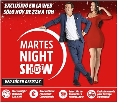 ofertas martes night show live 25 nov 2014 en media markt