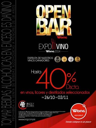 ofertas open bar wong expovino 2014