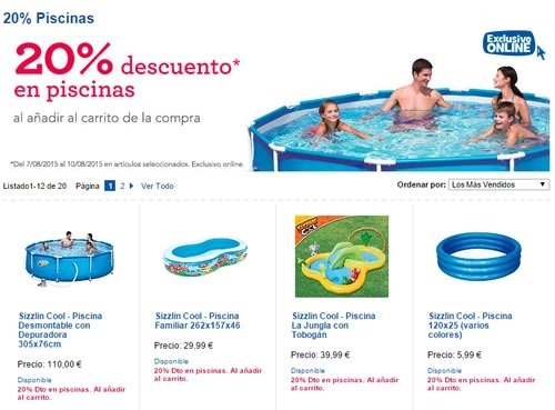 ofertas en piscinas desmontables 20 de descuento en