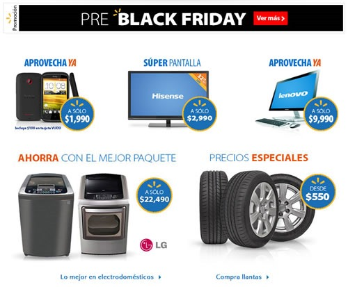 ofertas pre black friday 2013 walmart mexico
