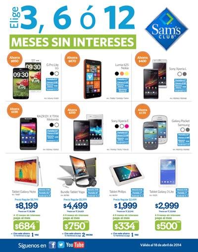 ofertas sams club celulares abril 2014