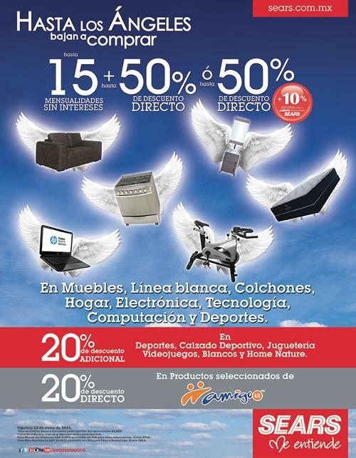 Ofertas en Sears Hasta 50% de Descuento Hoy 13 de Enero 2014 - México
