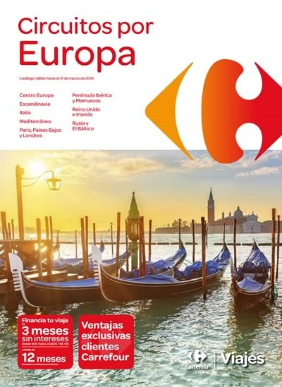 ofertas viajes por europa 2015 carrefour espana