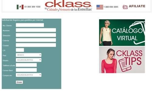 pedidos cklass por internet registro para pedidos