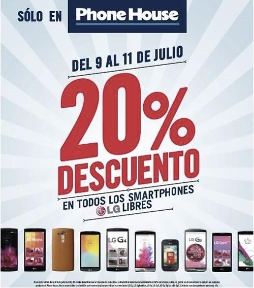 phone house 20 por ciento de descuento julio 2015