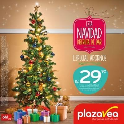 plaza vea catalogo adornos navidad 2014