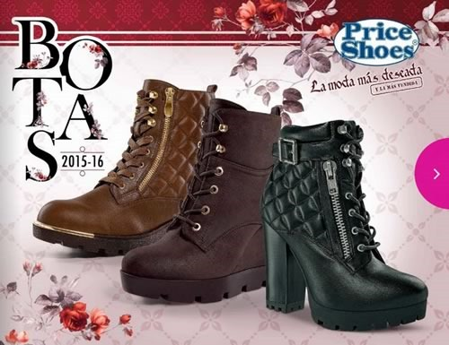 price catalogo de botas 2015 2016 mexico y usa
