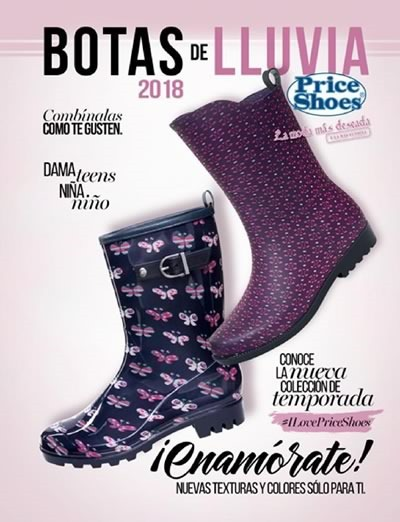 price shoes botas de lluvia 2018