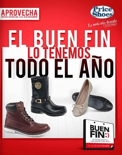 price shoes catalogo ofertas buen fin 2015