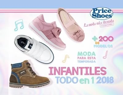 price shoes infantiles todo en uno 2018
