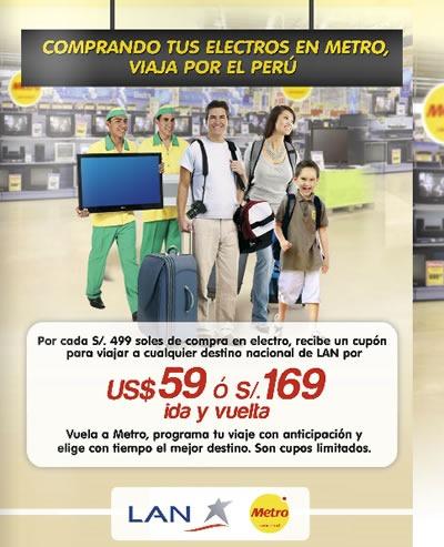 promocion metro compra electro y viaja en lan julio 2014
