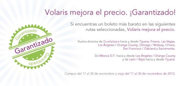 promociones volaris noviembre 2013 mexico