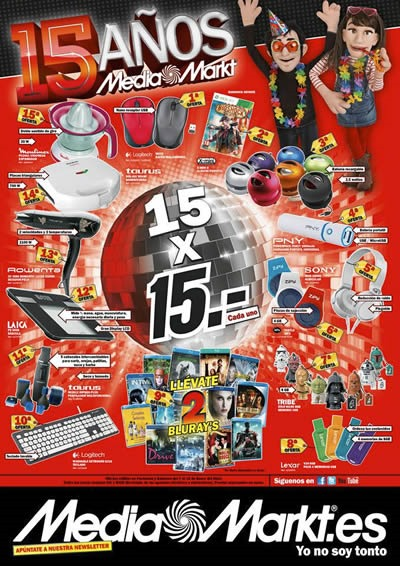 rebajas mediamarkt 2014 aniversario enero