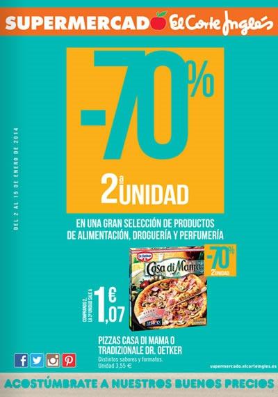 rebajas supermercado el corte ingles enero 2014