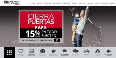 ripley cierra puertas papa 2015 peru