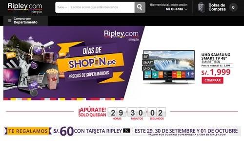 ripley dias de shoping 1 de octubre 2015