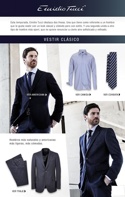 ropa para caballeros emidio tucci el corte ingles 2013 espana