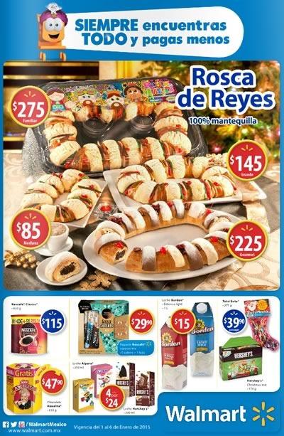 rosca de reyes 2015 folleto ofertas walmart mexico