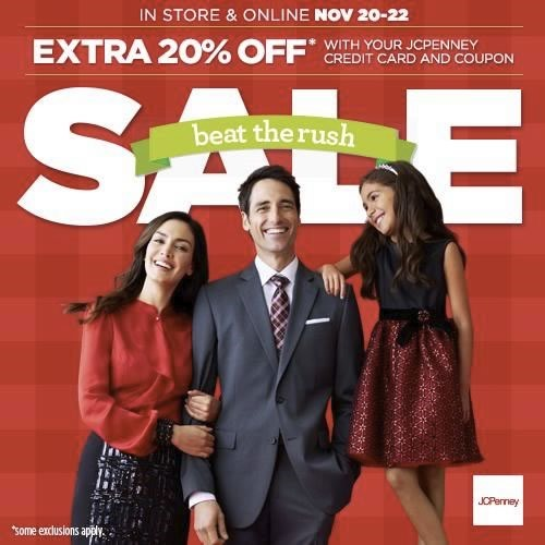 rush sale jcpenney 20 22 nov 2014