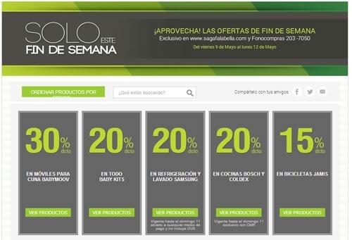 saga falabella ofertas solo este fin de semana 9 al 12 mayo 2014
