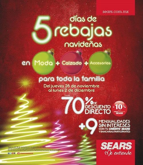 sears 5 dias de rebajas navidenas 2013
