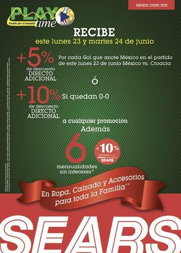 sears descuentos por seleccion mexicana 24 junio 2014