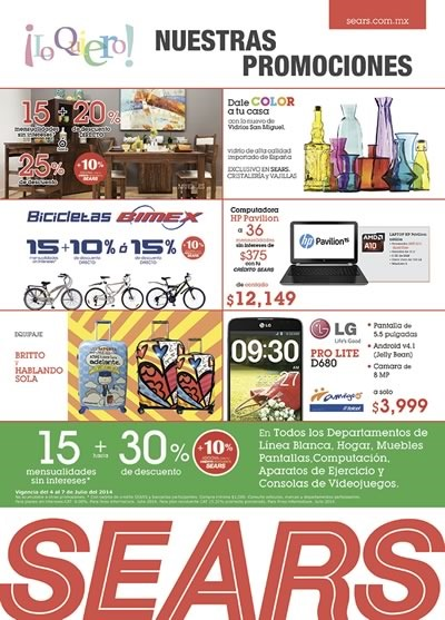 sears mexico ofertas 7 julio 2014