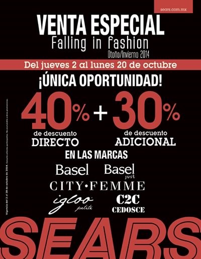 sears mexico ofertas falling in fashion octubre 2014
