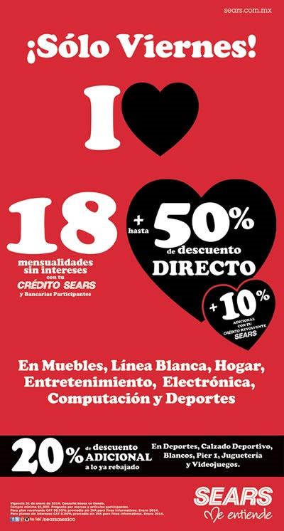 sears oferta viernes 31 enero 2014