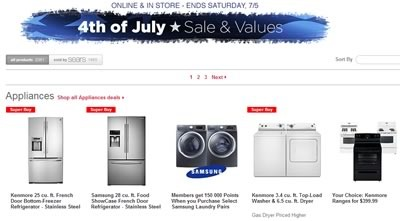 sears sale 4 julio 2014